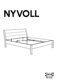IKEA Queen size nyvoll bed  多伦多, M2N