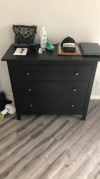 brown wooden 3-drawer chest Calgary, T2Y