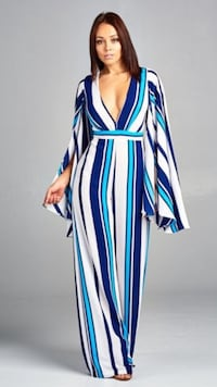 blue, white, and red striped sleeveless dress Youngsville, 70592