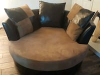 Beautiful Brown Swivel Couch!