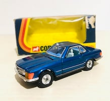1973 CORGI WHIZZWHEELS BLUE MERCEDES-BENZ 350SL #393 NEW IN BOX