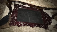 black wooden framed glass top coffee table Whitchurch-Stouffville, L4A