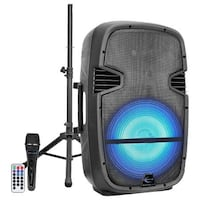 Technical Pro Active 15 LED Loudspeaker with Remote Mic and Tripod PW1610 OPen Box(60DW)