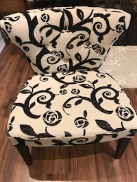 White and black floral chair  Brampton, L6P 2Z4