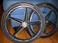 black 5-spoke car wheel with tire Winnipeg, R3G 1W4
