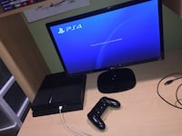 PS4 Console w/ TV Monitor + Games Mississauga, L5V 2H1