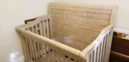 Adjustable Baby Crib Converts into a Bed Twin and Full Size