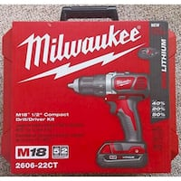 black and orange Milwaukee cordless impact wrench  Vancouver, V6A 1P4