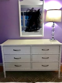 Faux Bamboo Dresser - Henry Link Six-Drawer Dresser Falls Church, 22044