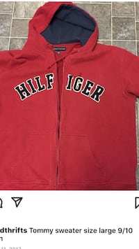 red and white Adidas zip-up hoodie Winnipeg, R2W 2R7