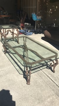 Iron and glass coffee table  Danville, 94506