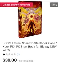 Steelbook Case Only NO GAME DISC PS4 XBox One