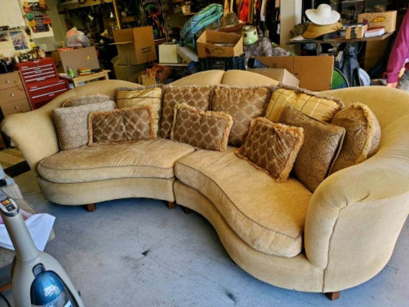Used Sofa Couch Down Pillows Cushions
