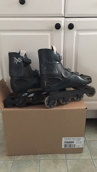 Pair of black inline skates Brooks, T1R 0L7