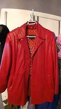 RED LEATHER JACKET. M3C 1C2