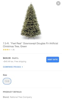 7.5ft artificial Christmas tree 2290 mi