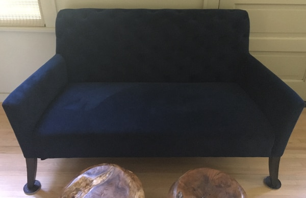 Fabulous New Navy Blue Suede Microfiber Couch Gmtry Best Dining Table And Chair Ideas Images Gmtryco