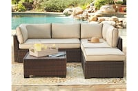 Loughran Outdoor Sectional Set with Table  Houston