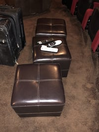 3 leather-like cubes. Great for foot rests   Washington, 20024
