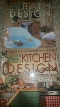 Kitchen & bathroom design books.