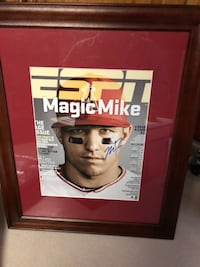 awesome mike trout autographed framed picture Goshen