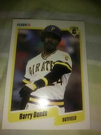 Barry Bonds trading card