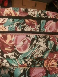 brown and green floral print textile Davisville, 26142