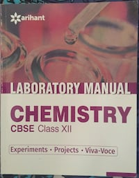 UNTOUCHED Arihant Chemistry Class 12th Lab Manual. Noida, 201301