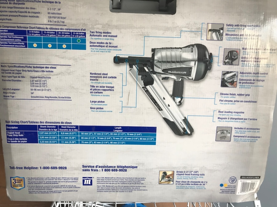 Luxury Mastercraft Framing Nailer Manual Model - Ideas de Marcos ...