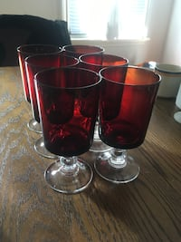 Red Wine Goblets, 6 available Toronto, M5V 3T1