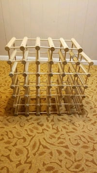 brown and white wooden rack Sterling, 20164
