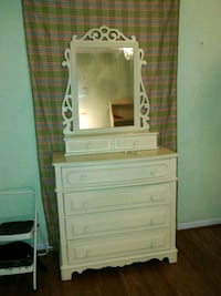 white wooden dresser with mirror Hoover, 35244