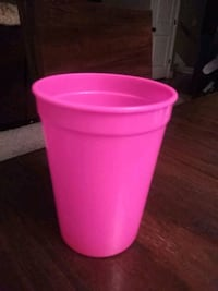 pink plastic container with lid 608 mi