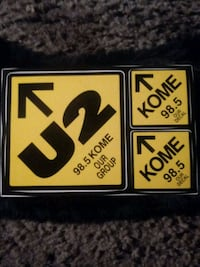 "OLD RADIO ""U2"" KOME 98.5 STICKERS Rancho Cordova, 95670"