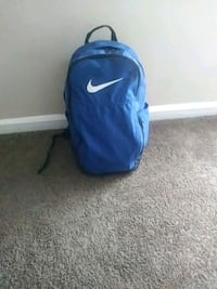 blue and white Nike backpack Detroit, 48227