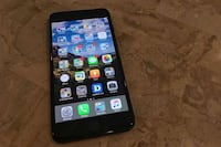 black iPhone 5 with black case