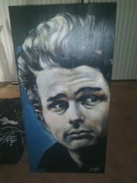 James Dean authentic signed painting Gresham, 97030