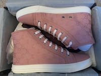 Brand New Gucci Double G Canvas High Top Sneakers Markham, L3P 1V8