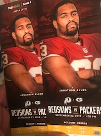 REDSKINS VS PACKERS $140 Springfield, 22150