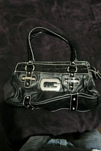 black and gray leather handbag Surrey, V3W 5S8