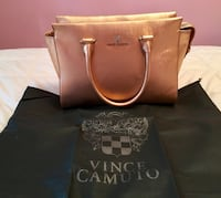 New Vince Camuto Saffiano Leather Gold Metallic Satchel  Waterloo, N2L