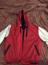Jordan large red and white jacket Vancouver, V6B 1J6