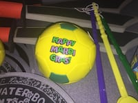 yellow and green Happy Mardi Gras soccer ball Howell, 07728
