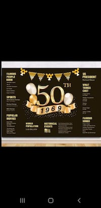 50th Birthday Party Bundle $50 Really Good Deal