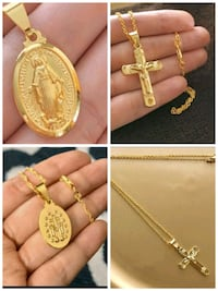 18k yellow gold rosary and cross MySpac necklace