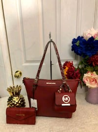 red leather Michael Kors tote bag Falls Church, 22044
