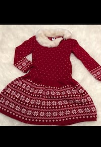 Janie and Jack Holiday/Festive Girl Dress, 5T Washington, 20001