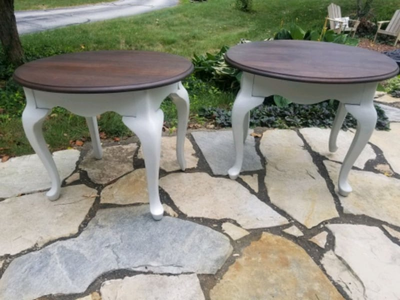Rustic refinished side tables. b0ad05f7-2514-40bc-823a-4c6122c92701