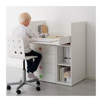 white wooden desk with hutch Frederick, 21701