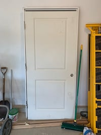 "Solid masonite 6'-8""x 3'-0"" door 2x6 Jamb."